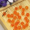 Beads, Selenial Crystal, Crystal, Orange , Faceted Rounds, Diameter 4mm, 10 Beads, [ZZC206]